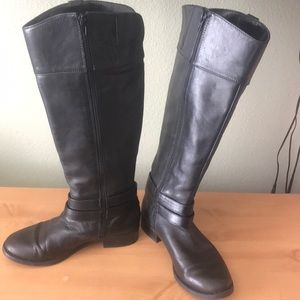 INC International Concepts Shoes - 1 hr SALE, INC Leather Black Riding Boots Style